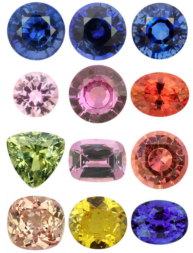 название всех драгоценных камней и фото боков